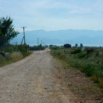 La piste pour accéder au camping Lake Shkodra Resort