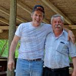 Parc de Krka, le patron de l'auberge (à gauche) et Zoran notre guide (à droite)