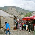 Mostar: le souk avant le pont