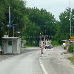 Frontière bosnienne sur la route de Mostar