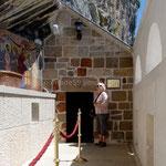 l'entrée de la première chapelle