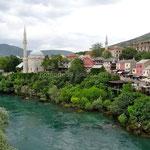 Mostar: la rive est, côté musulman