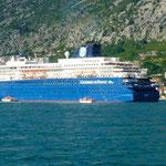 Bouches de Kotor: un bateau de croisière a déversé sa cargaison à Kotor