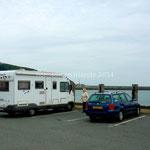 Malheureusement ce parking de Fishguard face à la mer est interdit la nuit. Nous trouvons un autre parking.