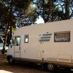 Au camping de Novigrad avec vue sur mer