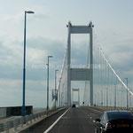 Le Severn Bridge sur la River Severn marque l'entrée au Pays de Galles