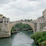 Mostar: Le Stari Most (Vieux Pont) entièrement reconstruit après la guerre
