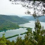 Parc de Krka, le lac Prukljan Skradin