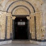 Trogir: portail de la cathédrale St-Laurent