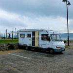 Nous stationnons pour la nuit sur le parking face à la plage de Rathmullan