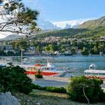 Srebreno: le port et la plage