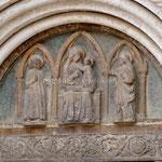 Zadar, cathédrale Ste Anastasie, détail du tympan
