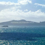 Blasket Island se détache à l'horizon, faisant penser à la silhouette d'un géant allongé sur le dos