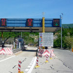 La sortie du pont de l'ile de Krk, passage gratuit dans ce sens.