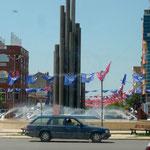 Rond-point à Shkodër