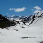 La neige au col de Saint Christophe en Autriche