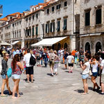 Dubrovnik: Placa, la rue principale de Dubrovnik
