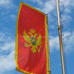 Monténégro: le drapeau nous accueille