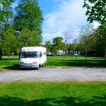Le parking réservé aux camping-cars dans le parc de Muckross House, malheureusement fermé la nuit.