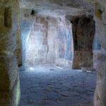 Matera intérieur d'une église troglodyte