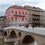 Sarajevo: C'est au niveau de ce pont, devant la maison rose qu'a été assassiné l'archiduc d'Autriche François-Ferdinand