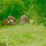 Meules dans la campagne bosnienne