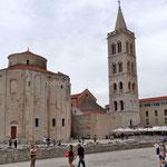 Zadar, église St Donat et campanile de la cathédrale Ste Anastasie
