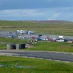 Le parking des Cliffs of Moher sur lequel nous passerons la nuit
