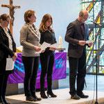 Sie sprachen das Fürbittengebet: Agnes Protz (v.l.n.r.), Petra Rudolph, Dana Gillmann-Kamm, Helmut Kretz