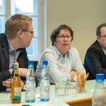 Prof. Dr. M. Saß, Oberstudienrätin Ulrike Combé-von Nathusius, Dekan Hermann Köhler