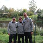 von links nach rechts: Sergei Roskop, Thomas Göpfert, Jens Struckmann (Heimtrainer von Sergei)