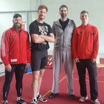 Diskus-Olympiasieger 2016 Christoph Harting und sein Trainer Torsten Lönnfors