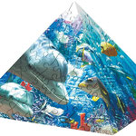 Pb18 Pyramide puzzel onder water