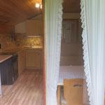 Blick in die Küche vom Balkon