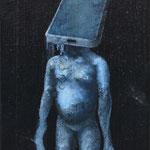 Abbandono 2 - cm. 17,5 x 31 - olio su tavola - 2015
