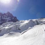 Die Gletscherbrüche des Glacier Blanc.