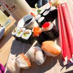 Kleine Sushi-Vorspeise - muss man auf der Schiwiege unbedingt probieren!