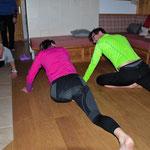 Yogastunde auf der Hütte