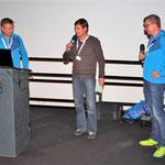 Egbert mit Peter Küchler und Michael Brachmann, die beide über den Sushi-Powder auf Hokkaido berichteten.