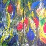 Bunte Welt - Acryl 2x 70x100 (2015)