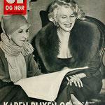 Karen Blixen con Marilyn Monroe.