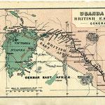 Uganda Railways Mombasa-Lago Vittoria. Mappa del 1910.