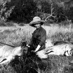 Karen Blixen in Kenya (1914).