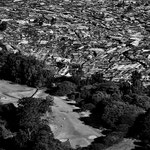 Vista di Kibera slum, Nairobi.