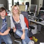 Marcus und Redakteurin Annika