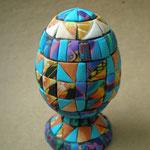 """Яйцо """"Лоскутное"""" из полимерной глины"""