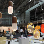 Tim Wigmore's Pil lamps alongside Rebecca Asquiths Nautilus and Nectar Lamps