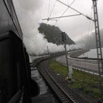 Schnellzugdampf mit bis zu 120 km/h am Rhein