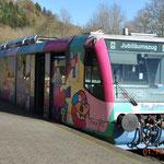 Die 17 Triebwagen vom Typ RegioSprinter verkehren planmäßig auf dem Streckennetz der Rurtalbahn rund um Düren