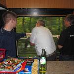 Auch unser Team im Speisewagen hatte ab und zu Zeit die Fahrt zu genießen